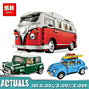 2016 New LEPIN 21001 1354Pcs Creator Volkswagen T1 Camper Van Model Building Kits Bricks Toys Compatible