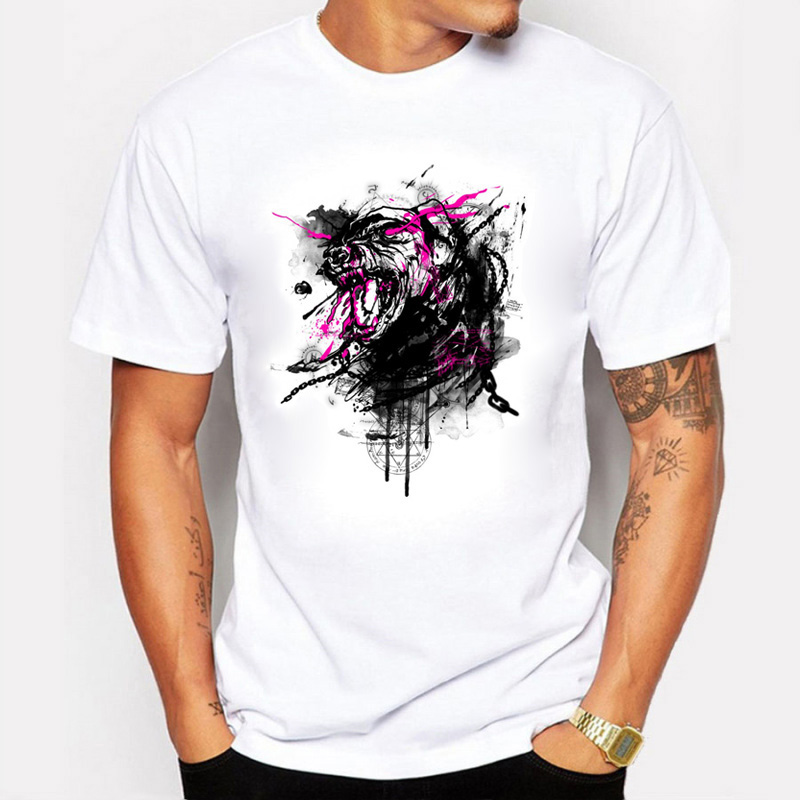 8100717158926 Aliexpress.com : Buy 2017 Summer Men T Shirts Fashion Printing Crazy Pet  Dogs Hand Painted Unique Design Short Sleeve T Shirts For Men Clothing from  ...