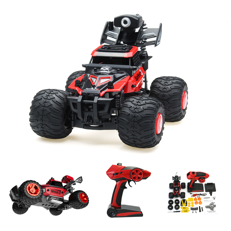 Crazon 172801 2.4G 2WD 1/28 FPV With Camera Wifi Remove Control Off Road Crawler RC Car Red Green Smart Boys Gifts Toys