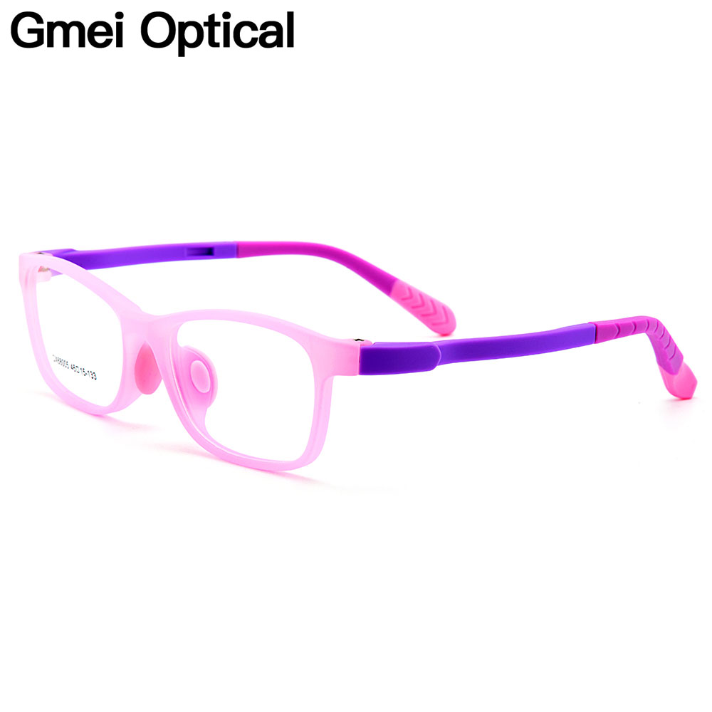 Gmei Optical Healthy Ultra-light Flexible Silica Gel Comfortable Safe Full Rim Kids Eyeglass Frames Childrens Glasses CX68005