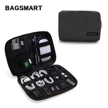 Bagsmart Electronics Travel Organizer - Cord, Cable, and Accessories Case Waterproof
