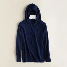 Knit Sweater Women Winter 2019 Autumn Hooded Sweater Women Blue Sweater Ladies Women Sweaters And Pullovers Plus Size Sweaters original xiaomi mijia 90 points double knit sports hooded sweater men s autumn and winter sweater