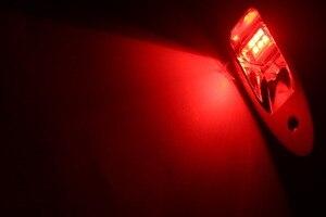 Image 5 - 1 çift 12 V tekne LED navigasyon ışığı Kırmızı Yeşil Paslanmaz Çelik Su Geçirmez Aydınlatma