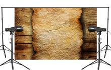Drewniane podłogi i spalony papier rekwizyty studyjne fotografia tło Retro tło do zdjęć 5x7ft