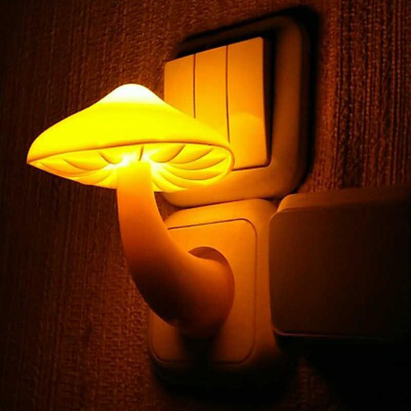 110/220V настенная розетка переменного тока светодиодный датчик ночного света оптического управления светодиодный ночник мягкий светильник для спальни