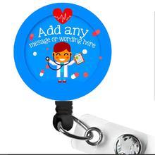 Médico Nomes Personalizados retrátil id badge reel com clip giratório 10 pçs/lote