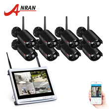 ANRAN 8CH Wireless Surveillance System 12″LCD Screen Wifi NVR K  960P HD H.264 Outdoor Night Vision Security Camera System