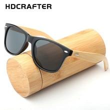 2e39a6cc7a HDCRAFTER gafas de sol de bambú hombres moda cuadrado gafas de sol mujer  marco de madera espejo gafas de sol para hombres UV400 .