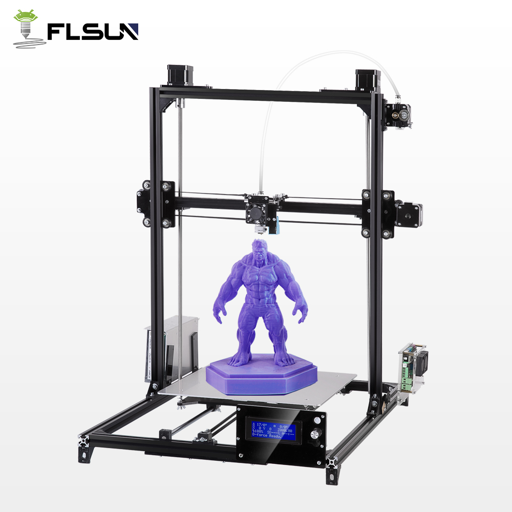 Flsun 3D Printer DIY Large Printing Area Metal Frame Auto Leveling Heated Bed Kit High Precision Metal Stracture 3D-Printer zonestar newest full metal aluminum frame big size 300mm x 300mm auto level laser engraving run out decect 3d printer diy kit