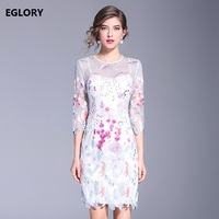 Vestido Festa Sexy Embroidery Floral Lace Tunic Dress Party Women Special Occasion Bridesmaid Mother Of Bride