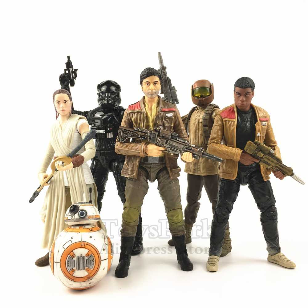 "Star Wars 6 ""Poe Dameron Rey BB 8 FINN Jakku Resistência Soldado Tie Fighter Pilot Action Figure Black Series"