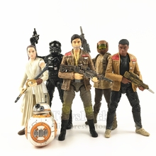 Star Wars 6 Poe Dameron Rey BB 8 FINN Jakku Resistance Trooper Tie Fighter Pilot Action Figure Black Series
