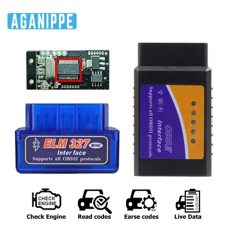 Elm327 Pic18f25k80 V1.5 OBD2 Wifi coche herramienta de diagnóstico elm327 bluetooth V1.5 OBD2 escáner Elm 327 1,5 OBD 2 Wi-Fi ODB2 Nuevo escáner Mini ELM327 Bluetooth V1.5 OBD2, escáner de diagnóstico de coche para Android ELM 327 V 1,5 OBDII OBD 2, herramienta de diagnóstico automático