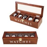 2019 New 5 Grids wooden Watch Case Box Casing for Hours Sheath for Hours Box for hours Watch