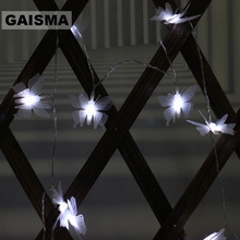 5M 40 Bulbs Butterfly Christmas Fairy Lights LED Garland String Wedding Decoration For Holiday Home Party Lighting Chain