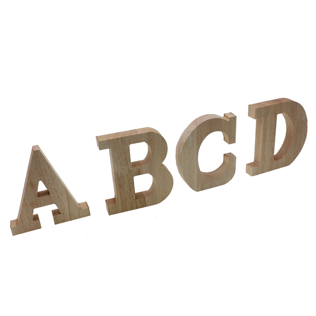 RUNBAZEF Decor Color Wooden Letter 26 Wood English Alphabet Letters Home Wedding Party Tools Decoration Number DIY Handcrafts 5