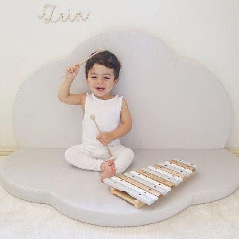 Pétale pliant jeu Pad Protection de l'environnement éponge bébé jeu coussin paresseux coussins pour enfants chambre décoration INS bébé cadeaux