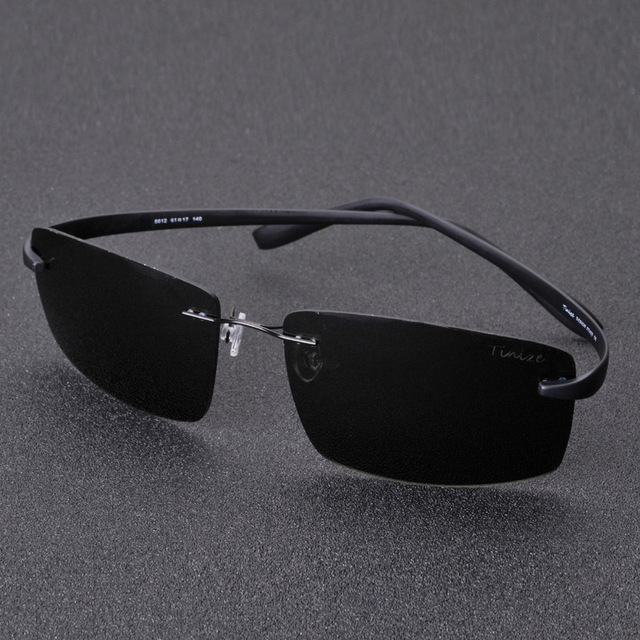 4dba366d0a8 Luxury Brand Tinize Men TR90 lightweight Rimless Polarized Sunglasses Happy  Freedom Silhouette Frameless Glasses Oculos