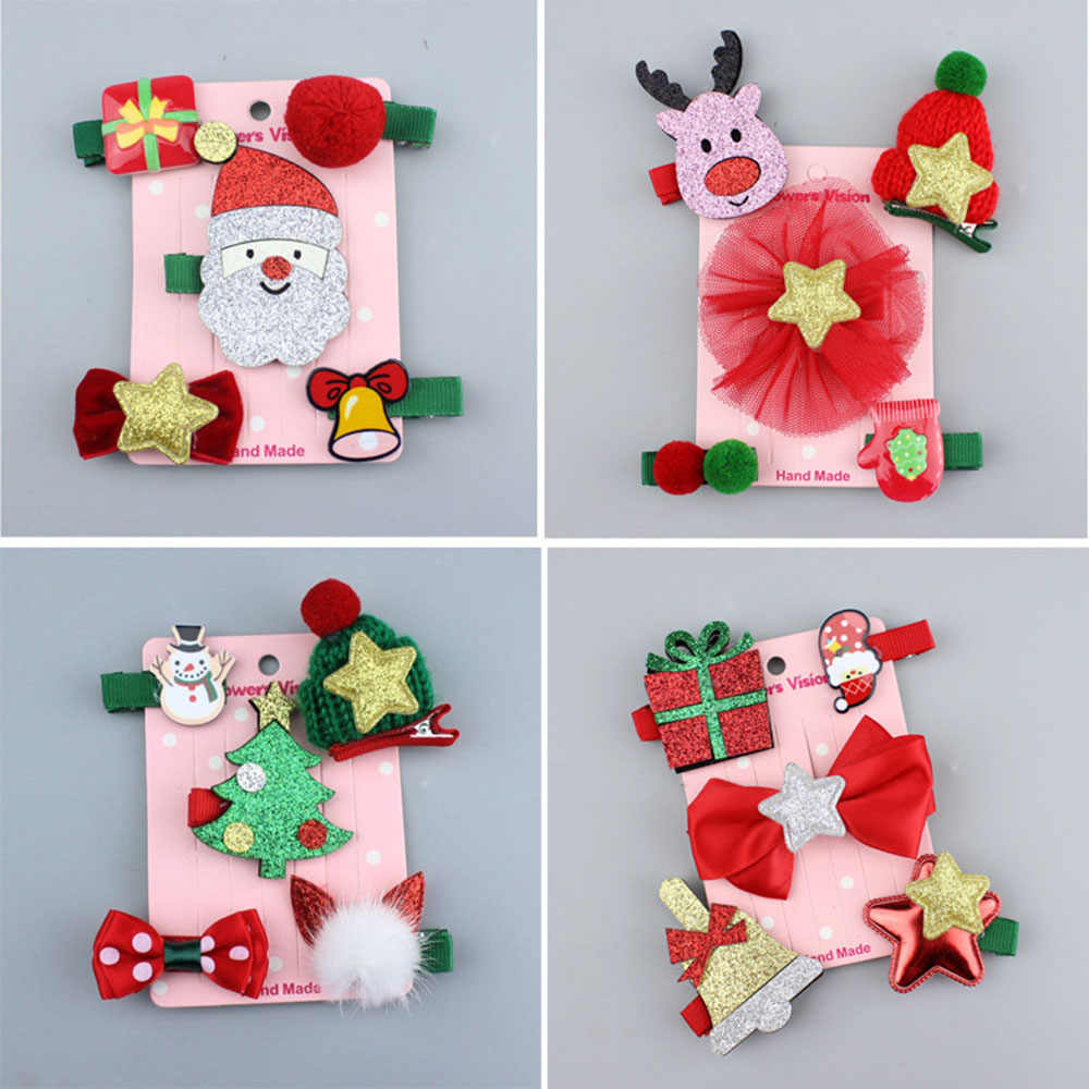 Children/'s Christmas hair clip baby hair accessories Christmas gift Kids