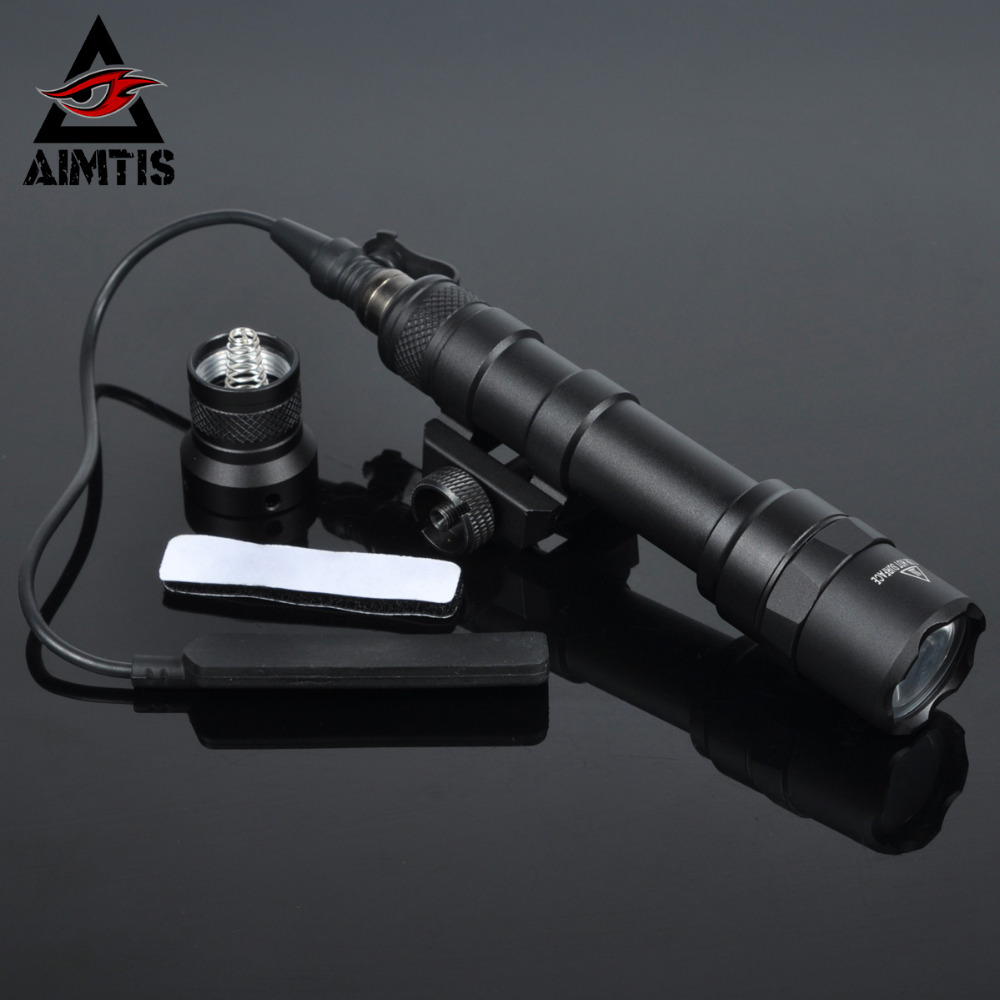 AIMTIS M600B Scout Light Tactical LED Mini Flashlight 20mm Picatinny Hunting Keymod Rail Mount Weapon light for Outdoor Sports greenbase outdoor hunting weapon light tactical m6 led flashlight