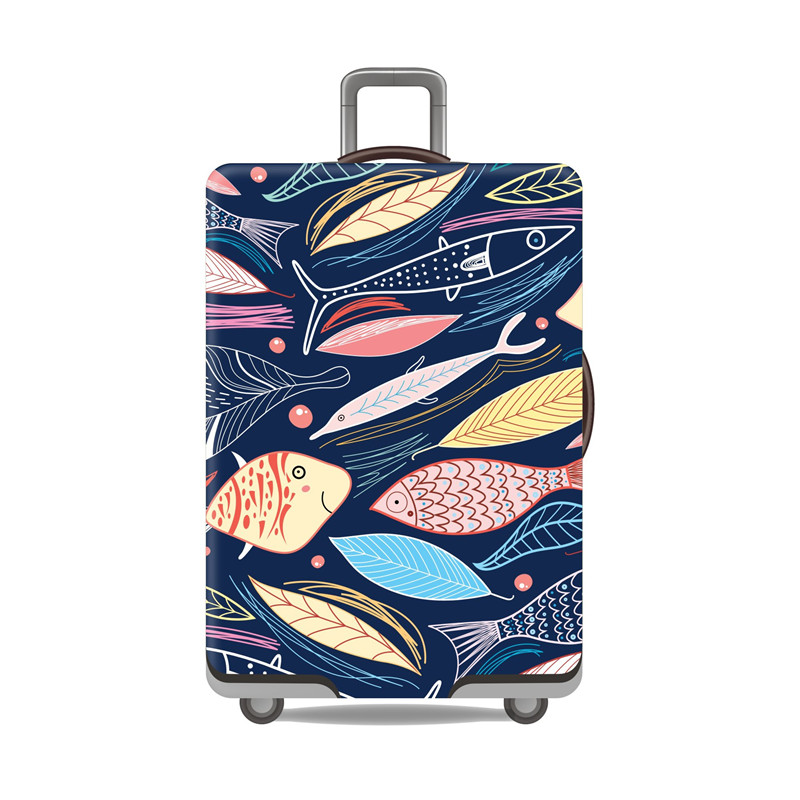 Travel Suitcase Protective Cover Luggage Case Travel Accessories Elastic Luggage Dust Cover Apply To 18''-29'' Suitcase