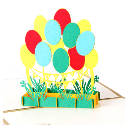 Perfect-3D Pop Up Colorful Balloon Greeting Card Christmas Valentines Birthday Invitation