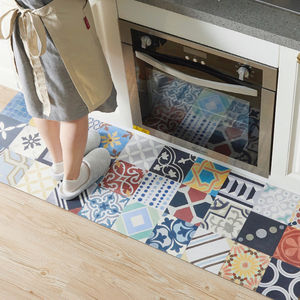 {suger beans-kitchen} Waterproof and Oilproof Kitchen dedicated Carpets PVC leather mats floor rugs large floor easy clean