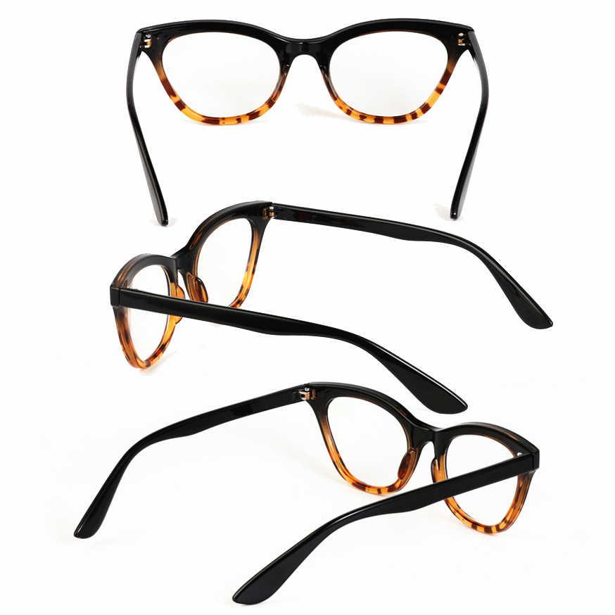 סקסי נשים חתול עין נמר ורוד קריאת משקפיים, קלאסי נשי מרחיק ראות זכוכית, פרסביופיה משקפיים + 1.0-+ 3.5 (9452)