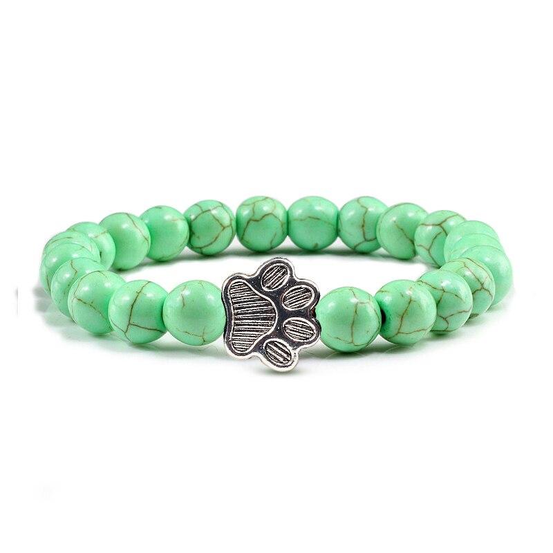 light green beads