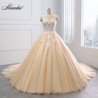 Miaoduo принцессы вечернее платье 2018 Новое поступление свадебное платье цвета шампанского свадебное платье Vestido de Noiva Интернет магазин Китая