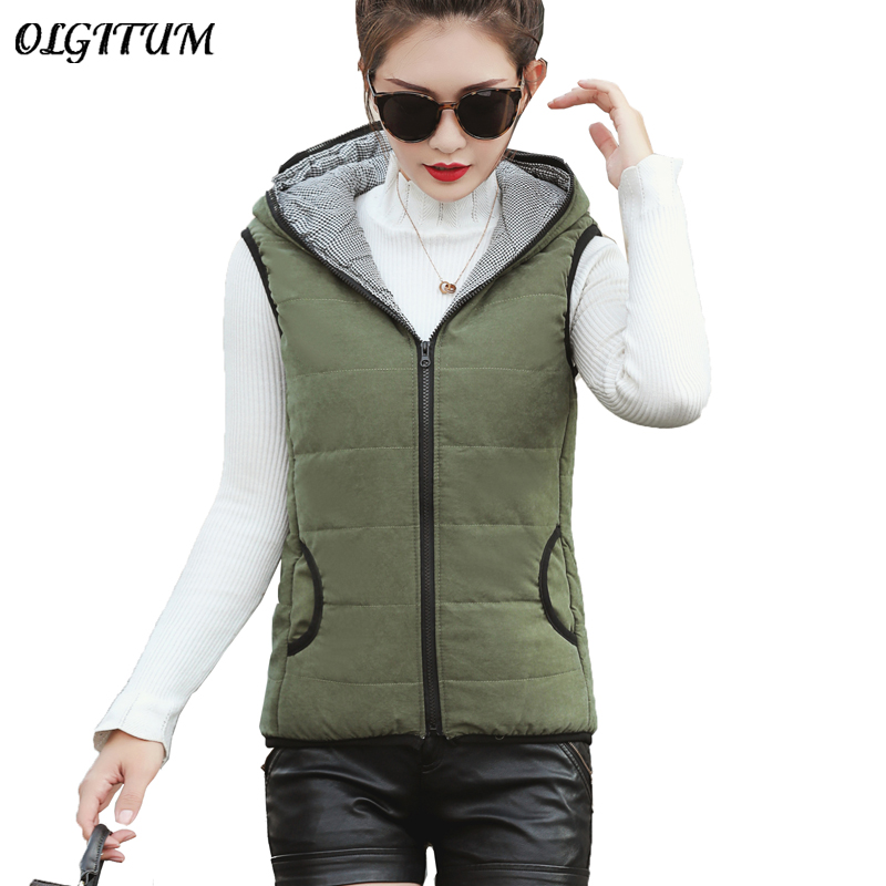 Women/'s Winter Long Camouflage Vest Warm Hooded Jacket Waistcoat Cotton Coat