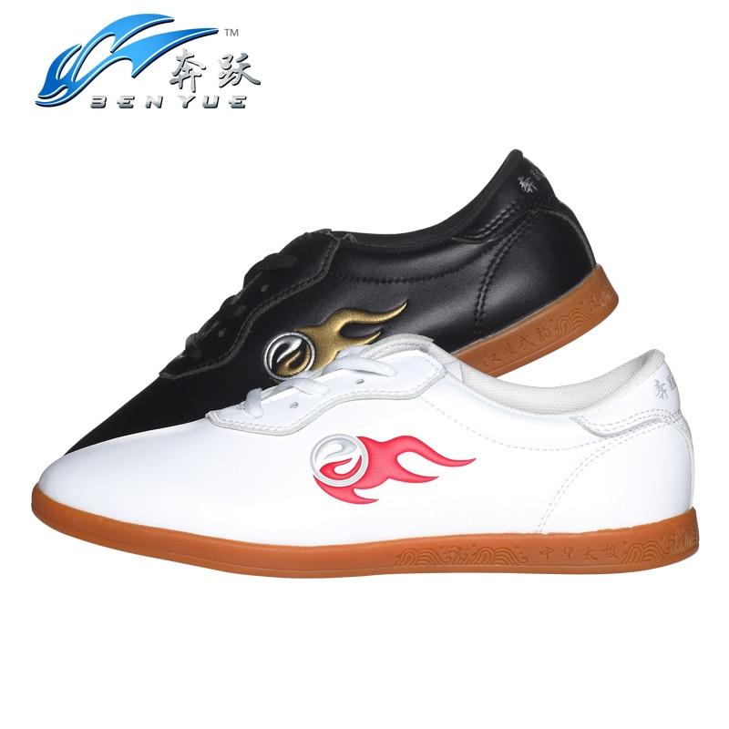 Одежда высшего качества 2 цвета из искусственной кожи для взрослых Мужской Женский занятий Обувь ушу кунг-фу тай-чи Обувь тайцзи Обувь унисекс