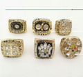 Wholesale Full Set (6pcs) For  1974 1975 1978 1979 2005 2008 Pittsburgh Steelers Super Bowl Championship Rings
