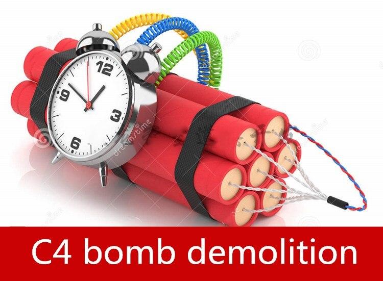 real life games escape room props Decryption and dismantling Countdown timer Plastic C4 bomb organ unlock props