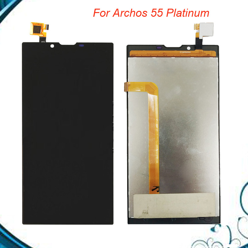 5.5 inch Black Repair Part For Archos 55 Platinum LCD Display and Touch Screen Assembly Mobile Accessories5.5 inch Black Repair Part For Archos 55 Platinum LCD Display and Touch Screen Assembly Mobile Accessories