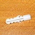 60 шт. Белый Пластик расширение трубы, трубки нейлона резиновые выпуклость якорь резиновую заглушку Торпедо тип расширения трубки M8 * 38 мм