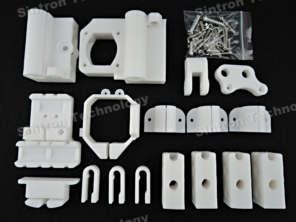 [Sintron] 3D Printer PLA Plastic Printed Part Frame Kit for MK8 Extuder Reprap Prusa Mendal Prusa i3,Free Shipping цена и фото