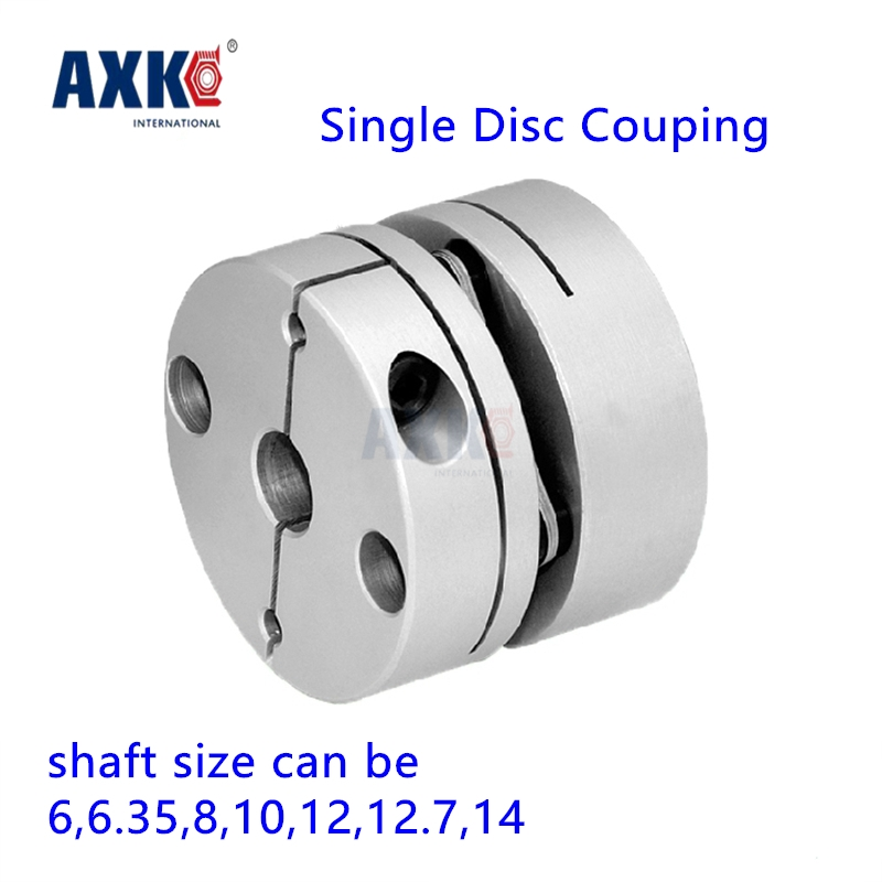 Bearing Axk New Dia. 34mm 6mm, 6.35, 8mm, 10mm, 12mm, 12.7mm, 14mm Aluminum Alloys Single Diaphragm Disk Coupling Disc Coupler new frame model aluminum alloys single