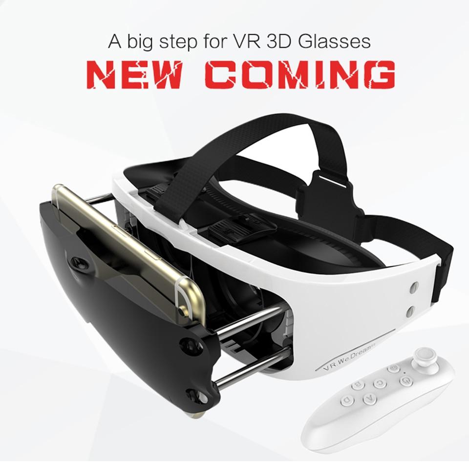 New Arrival <font><b>VR</b></font> <font><b>EYES</b></font> <font><b>Virtual</b></font> <font><b>Reality</b></font> 3D <font><b>Glasses</b></font> Helmet <font><b>VR</b></font> BOX Headset Google Cardboard 3D video games For 3.5-6.0 inch Smartphone