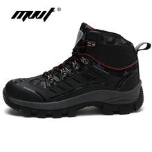2019 New High Top Men Hiking Boots Quality Durable Warm Climbing Shoes Outdoor Sneakers
