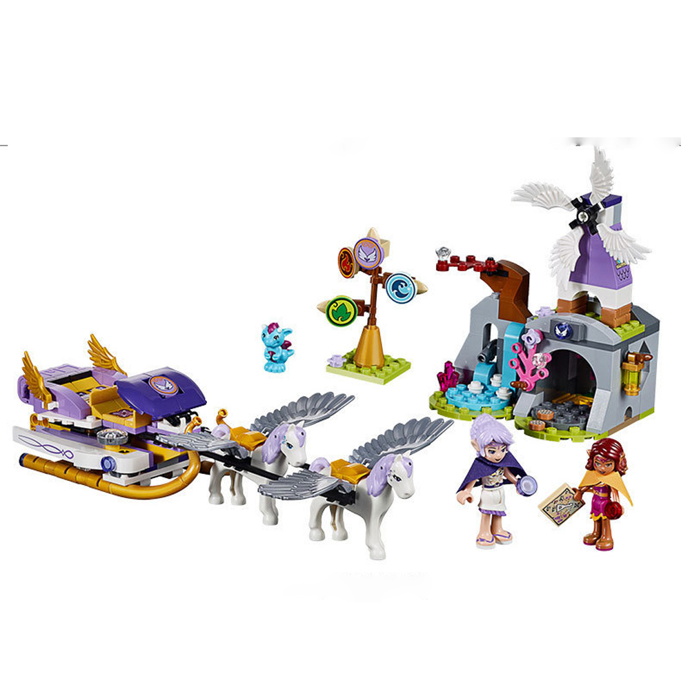Bela 10413 Compatible with legoed Elves Figures Aira's Pegasus Sleigh Building Blocks Model 41077 DIY Toys For Children Gifts lepin 22001 pirate ship imperial warships model building block briks toys gift 1717pcs compatible legoed 10210