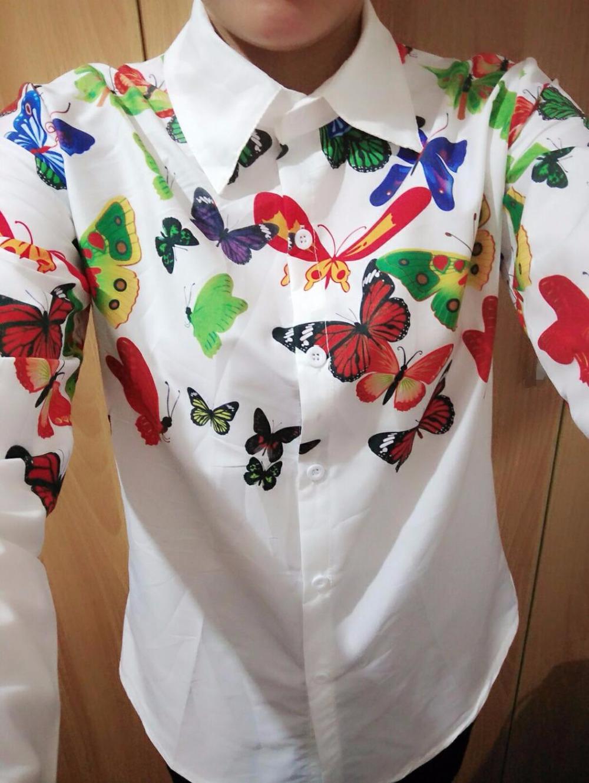 HTB1iaL7QVXXXXXhapXXq6xXFXXXt - White Shirt Elegant Floral/Butterfly Long Sleeve Blouses Female