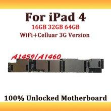 WiFi+ Celluar 3g версия для iPad 4 16 GB/32 GB/64 GB материнская плата с системой IOS, разобранная разблокированная для iPad 4 логическая основная плата