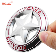 Car Stickers for TEXAS EDITION Star Logo Metal Badge Auto Emblem Decals Accessories for JEEP Cherokee Compass Liberty Renegade