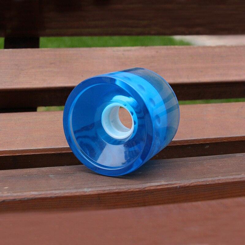 70*55mm Skateboard Wheels Transparent Blue Yellow PU Longboard Wheels Flat Plate Brush Street Wheels