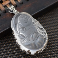 S925 pure silver inlay archaize style Thai silver wholesale women pendant atmosphere