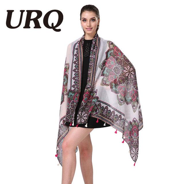 bohemina foulard geometry tassel lady scarfs winter shawl tassel scarf women from india shawl scarves pashmina cotton voile scar