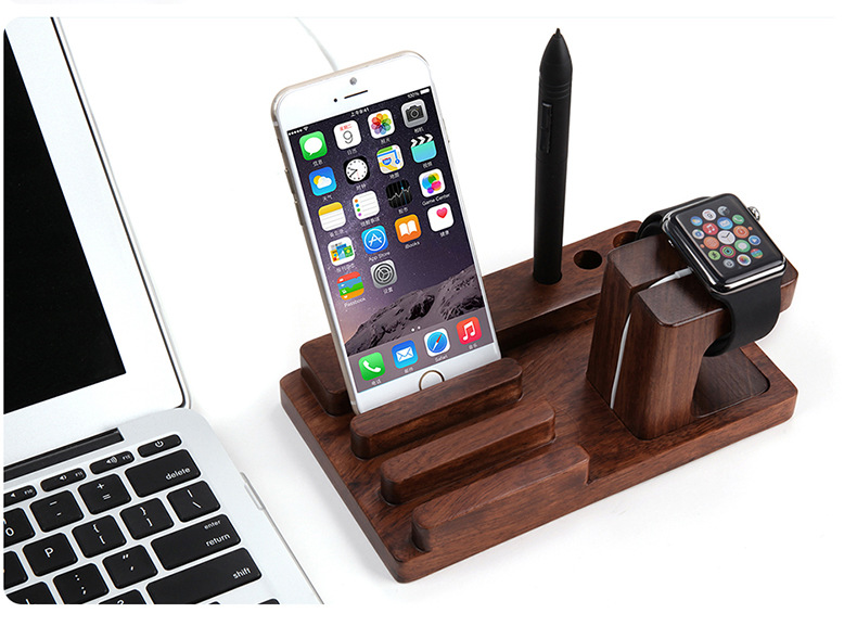 buy new rosewood charge dock holder stand. Black Bedroom Furniture Sets. Home Design Ideas