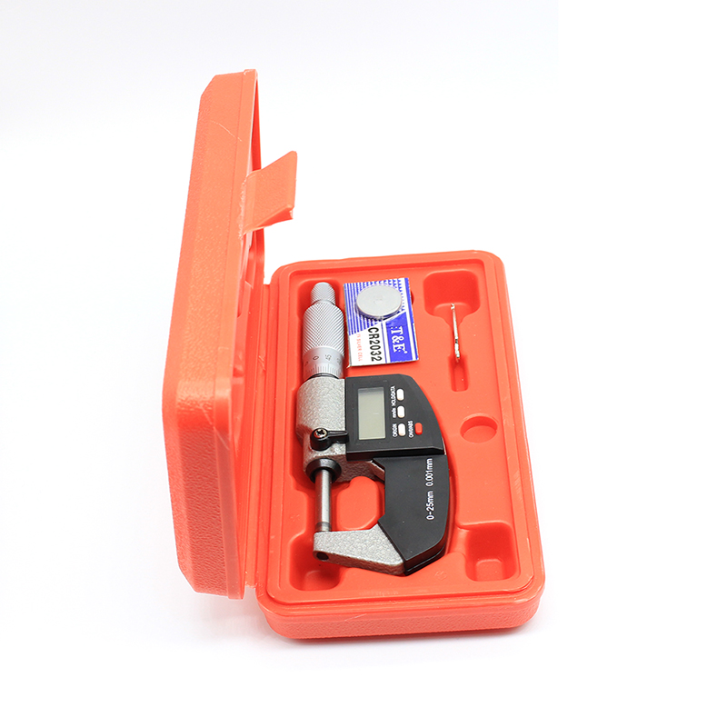 0-25mm CR2032 haute précision micromètre jauge plage de mesure en acier inoxydable affichage numérique règle règle outil de mesure