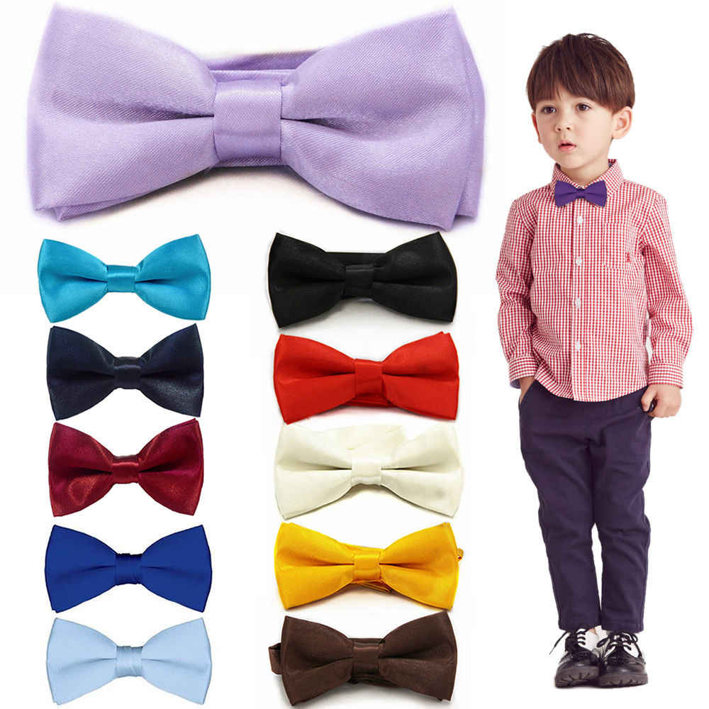Kinderen Mode Formele Commerciële Klassieke Effen Kleur Vlinder Bruiloft Bowtie Kid Tuxedo Dicky Huisdier Vlinderdas